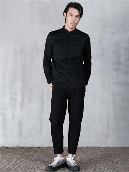 北纬30度男装品牌2020秋冬个性纯色衬衫
