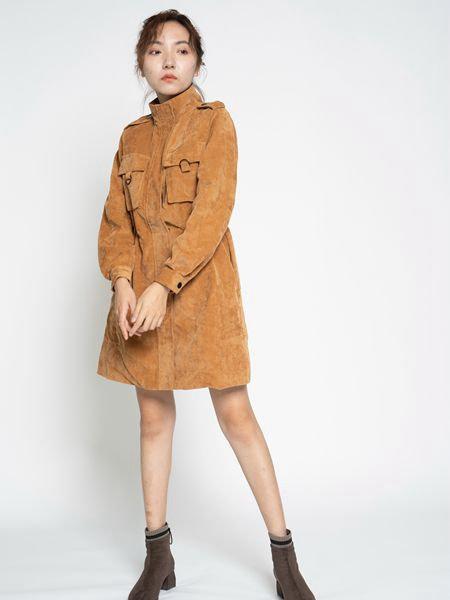 薇薇希女装品牌2020秋冬纯色中长款外套