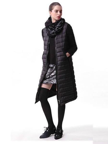 JECCI FIVE杰西伍女装品牌2020秋冬长款羽绒服