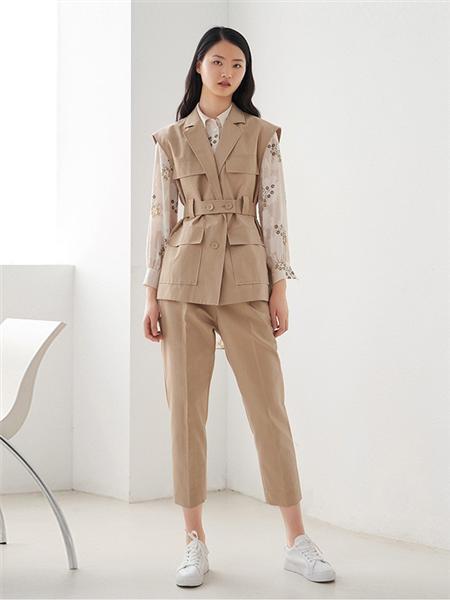 艺之卉|EACHWAY女装品牌2020秋季棕色无袖外套