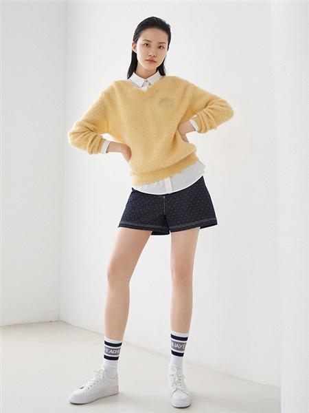 艺之卉|EACHWAY女装品牌2020秋季黄色长袖上衣