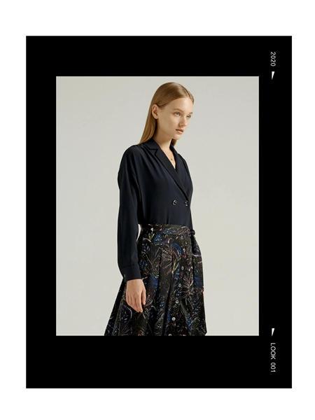吉芬女装品牌2020秋季欧美衬衫