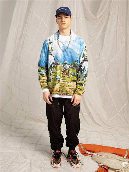 MYGE男装男装品牌2020秋冬个性图案开衫