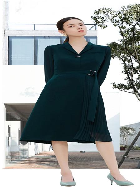 佳纷女装品牌2020秋季纯色连衣裙