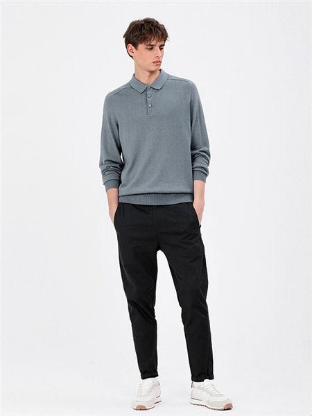 MARKLESS男装男装品牌2020秋冬个性立领衬衫
