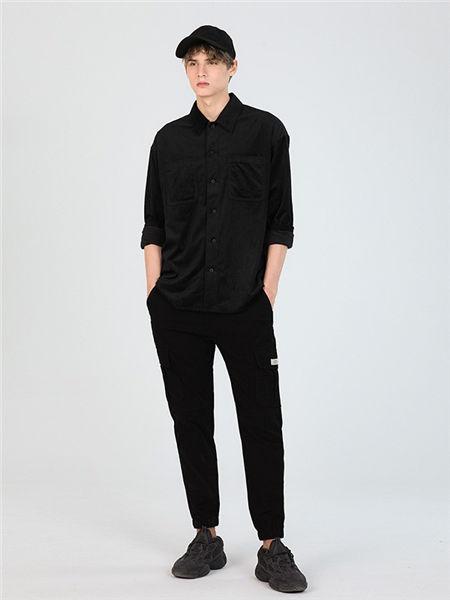 MARKLESS男装男装品牌2020秋冬时尚黑色开衫