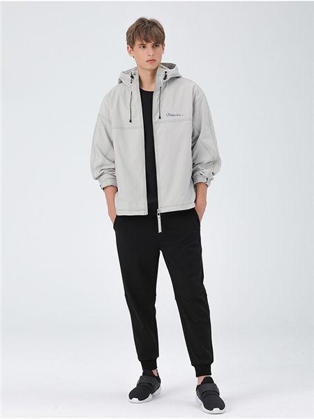 MARKLESS男装男装品牌2020秋冬休闲纯色风衣