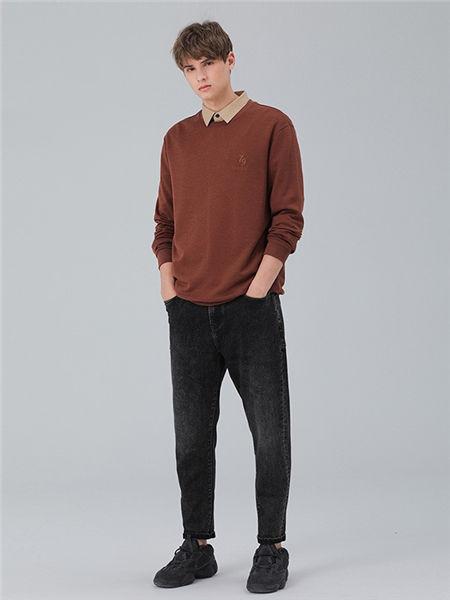 MARKLESS男装男装品牌2020秋冬纯色立领衬衫
