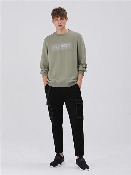 MARKLESS男装男装品牌2020秋冬欧美纯色长袖T恤