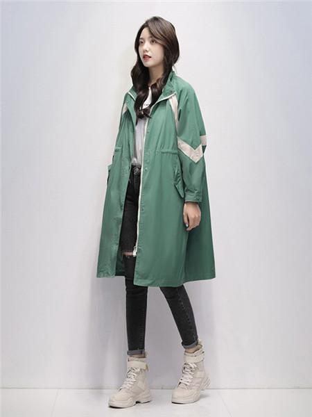 凯尔布拉迪女装品牌2020秋冬欧美青色外套