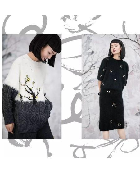 设计师品牌【王紫珊MICartsy】纯手工刺绣钉珠精致女装女装品牌2020秋冬新品