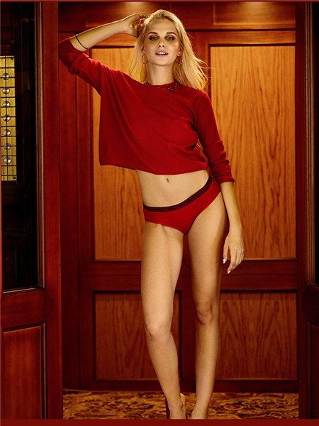 V21内衣品牌2020春夏舒适红色内衣套装