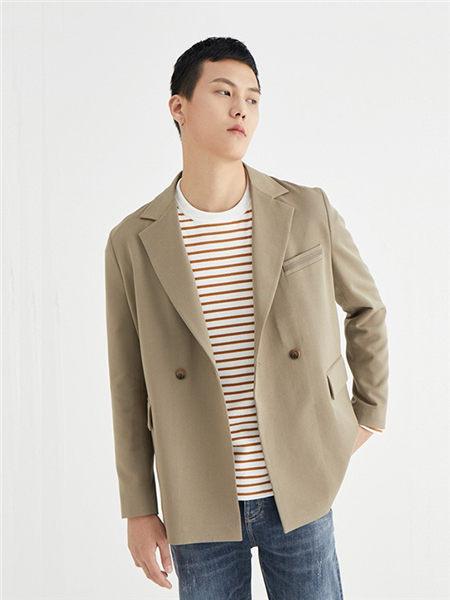 肆厘米男装品牌2020秋冬褐色时尚外套