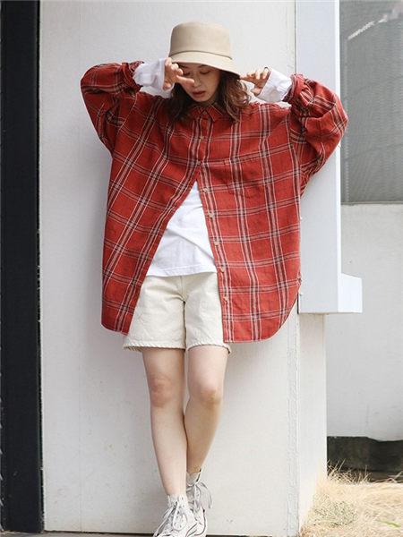 UNGRID女装女装品牌2020秋季红色各自外套
