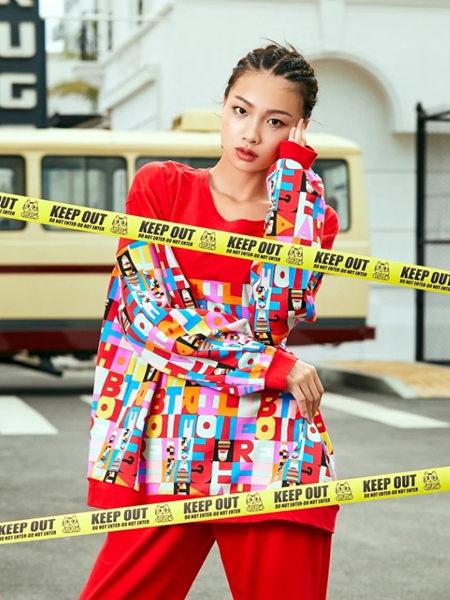 蘭繆(LAMIU)內衣品牌2020秋季紅色印花家居服