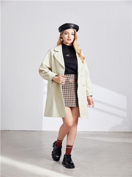 城市衣柜女装品牌2020秋冬个性纯色外套
