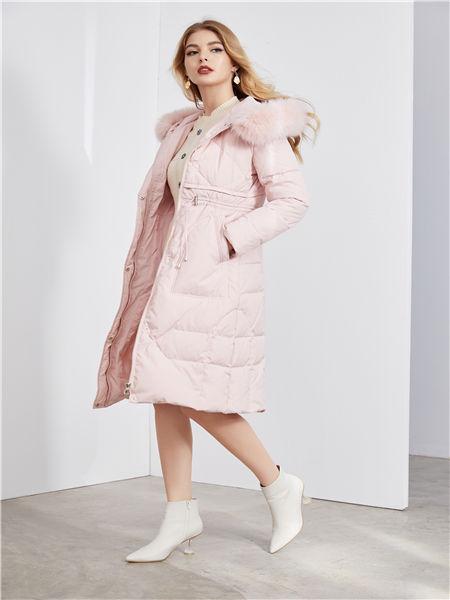 城市衣柜女装品牌2020秋冬纯色长款羽绒服