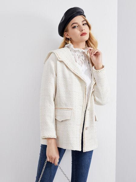 城市衣柜女装品牌2020秋冬街头白色外套