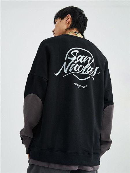 抹茶故事男装品牌2020春夏黑色拼接假两件上衣