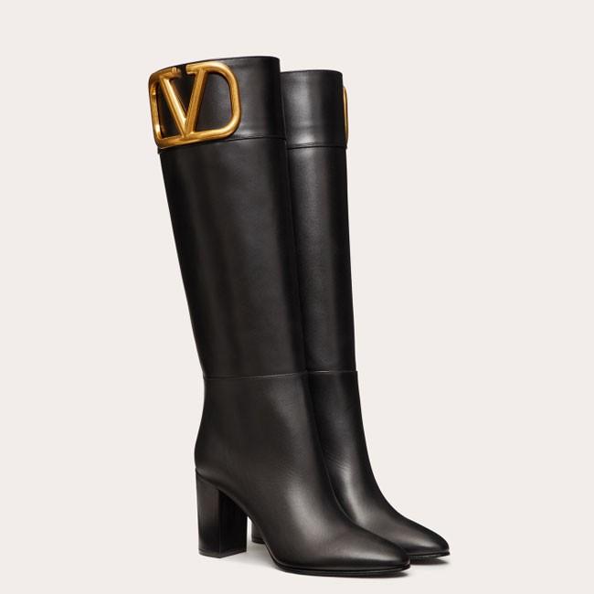 VALENTINO GARAVANI SuperVee 小牛皮靴 (鞋跟高85mm)