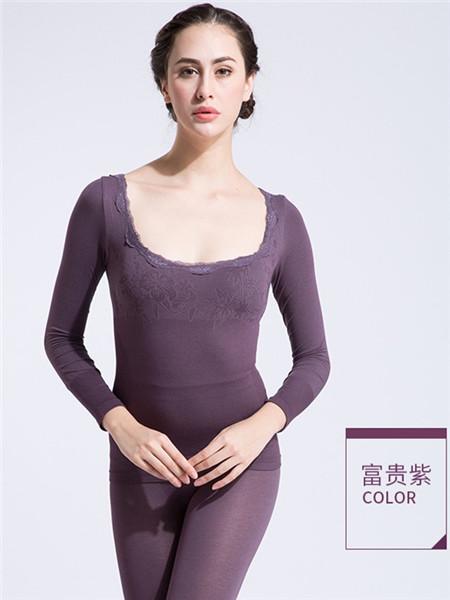 Docare朵彩內衣品牌2020秋季紫色保暖內衣