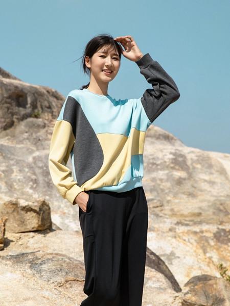 堓上女装品牌2020秋季快时尚拼接上衣