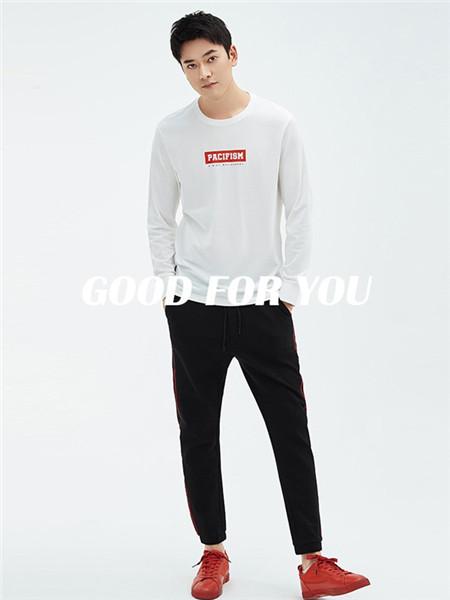 翡翠男装品牌2020秋冬潮流白色上衣