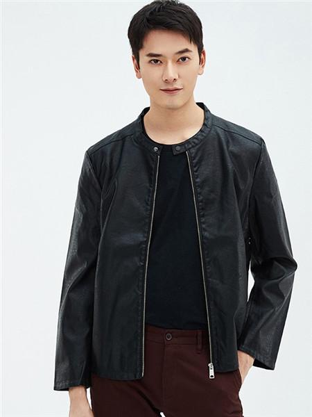 翡翠男装品牌2020秋冬黑色街头风衣