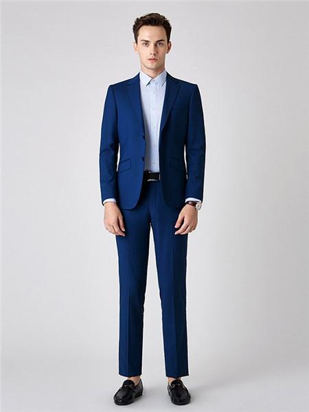 名盾男装品牌2020秋蓝色西装套装