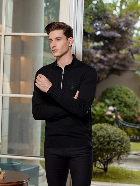 法拉狄奥男装品牌2020秋冬潮流黑色外套