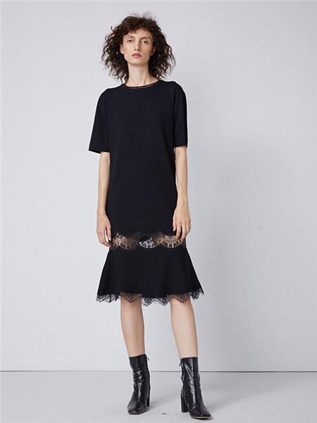 真我永恒女装品牌2020秋冬黑色打底衫