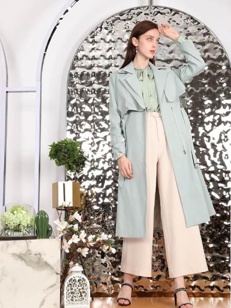 SASLAX莎斯莱思女装品牌2020秋季潮流蓝色外套