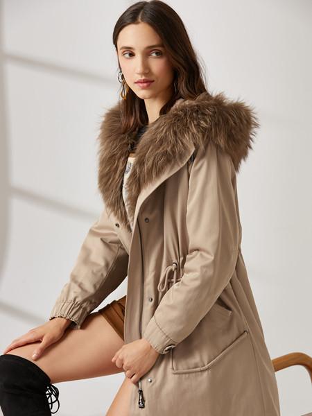 珂思女装品牌2020秋冬褐色休闲外套