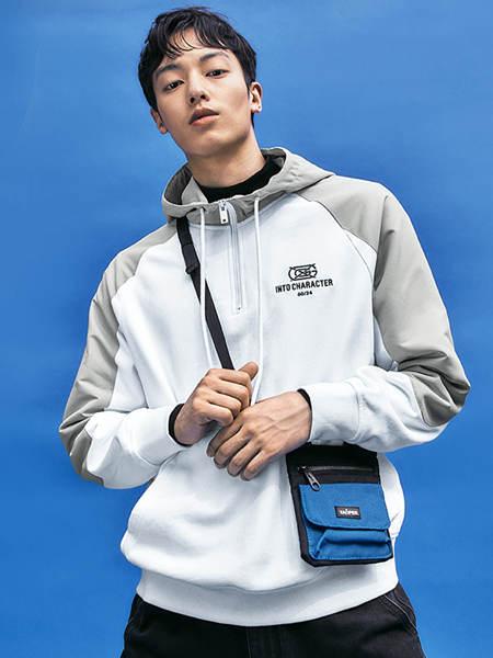 GXG男装品牌2020秋季白色运动外套