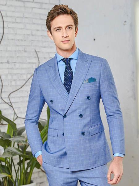 埃沃定制www久久是热频这里只精品品牌2020春夏蓝色格子外套