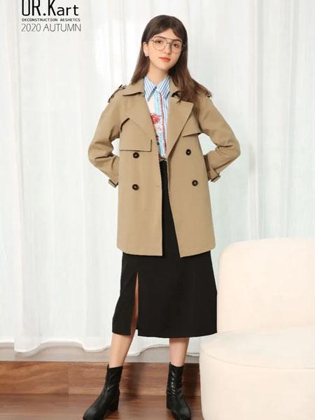 解构女装女装品牌2020秋季休闲褐色外套