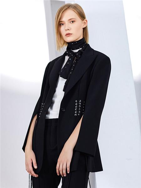 来尔佳昵LARCHY女装品牌2020春夏休闲黑色外套
