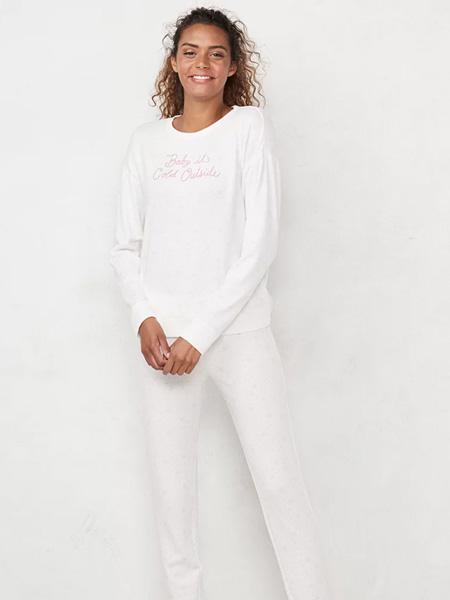 laurenconrad国际品牌2020春夏字母白色上衣