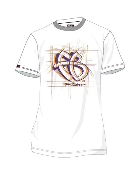 fubu国际品牌2020秋季时尚白色字母T恤