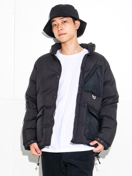 n-nine国际品牌2020秋季时尚黑色风衣