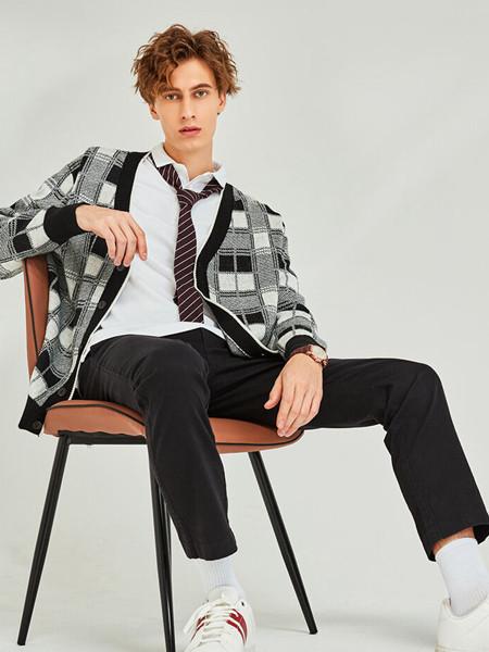 Giordano佐丹奴休闲品牌2020秋季格子黑色外套