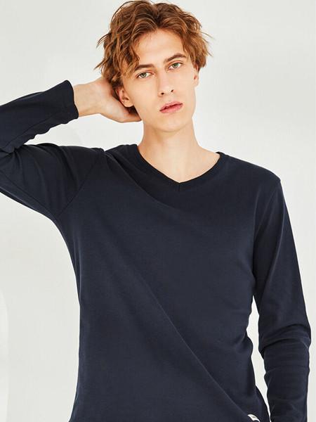 Giordano佐丹奴休闲品牌2020秋季英伦纯色T恤