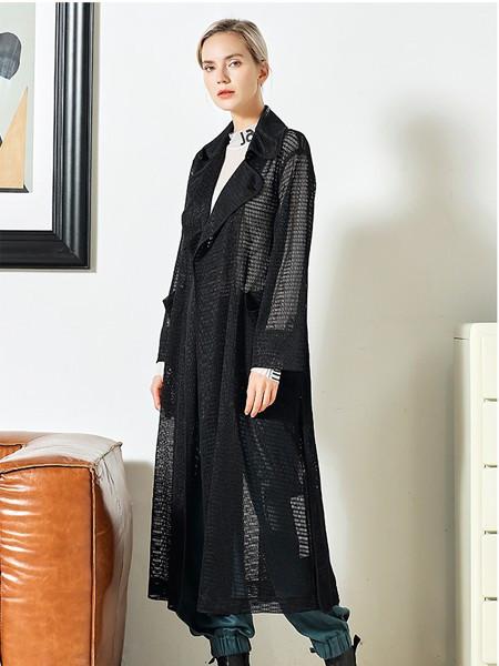 JAC女装品牌2020秋冬黑色半透薄外套