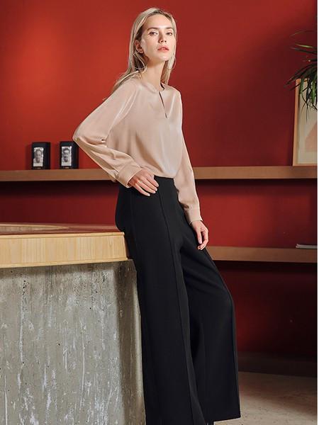 JAC女装品牌2020秋冬长袖潮流圆领衬衫