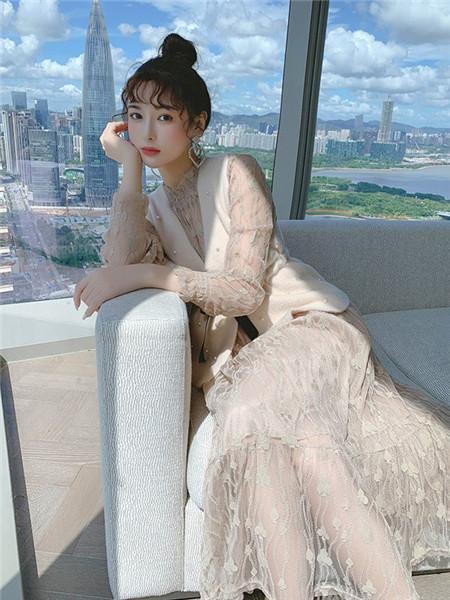 歌贝姿女装品牌2020秋季纯色无袖毛呢马甲