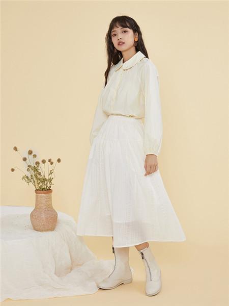 ZET des ZET女装品牌2020秋季立领白色上衣