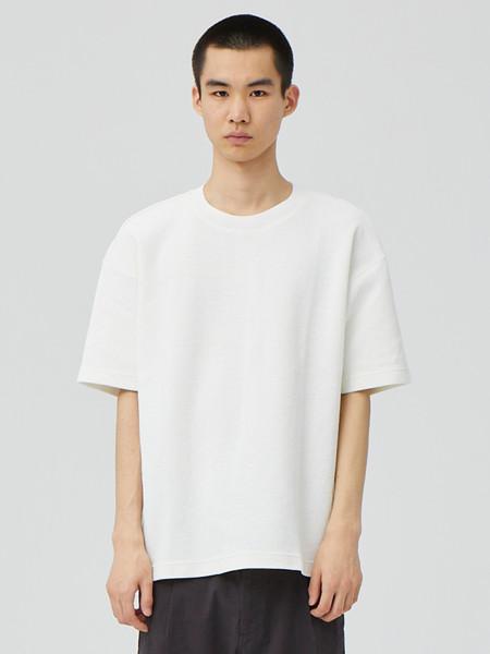 单农男装品牌2020秋季白色圆领T恤