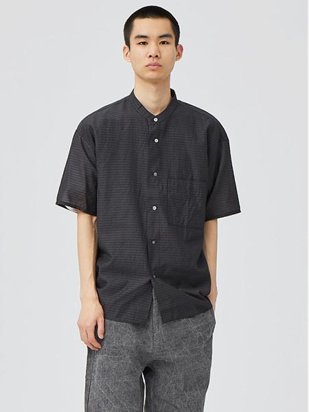 单农男装品牌2020秋季格子黑色开衫