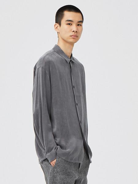 单农男装品牌2020秋季街头灰色立领开衫