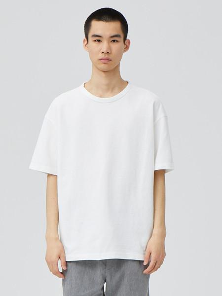 单农男装品牌2020秋季中性白色T恤